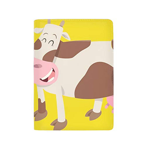 Passport Holder Cover RFID Blocking Case Travelling Passport Cards Carrier Wallet Case Cute Cow