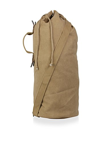 Parson Gray Cavalry Duffel Bag Color: Sand, Size: Small