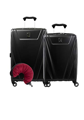 Travelpro Maxlite 5 Hardside 3-PC Set: Exp. C/O and 25-Inch Spinner with Travel Pillow (Black)