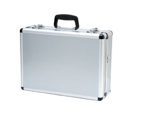 T.Z. Case International TZ0301 S 18 x 13 x 6-Inch 4-8 Pistol Case, Silver Smooth Finish