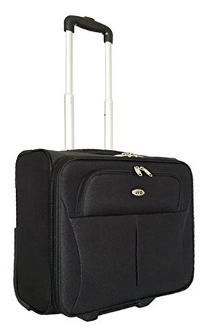 Carryon Laptop Computer Bag Rolling Travel 2Wheel Overnight Luggage Case Black