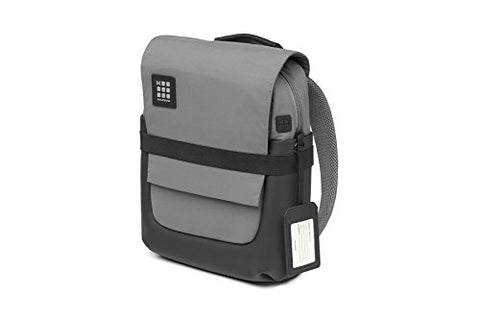Moleskine ID Backpack, Slate Grey, Small - for Work, School, Travel & Everyday Use, Space for Devices, Tablet, Laptop, Chargers Notebook Planner or Organizer, Padded Adjustable Straps Secure Zipper