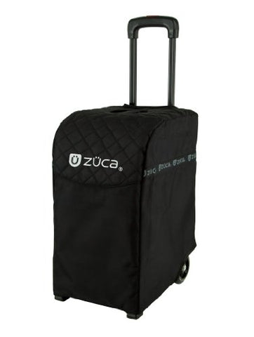 Zuca Pro Artist Case - Black Insert Bag In Black Frame, With Travel Cover And 4 Vinyl Utility