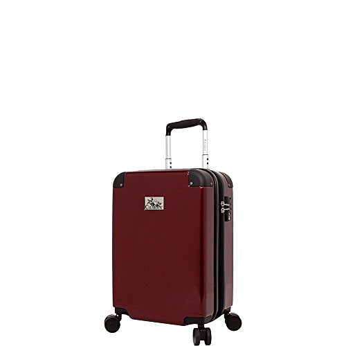 "Chariot 20"" Lightweight Spinner Carry-on Hardside Suitcase Luggage, Purple"
