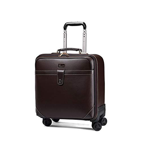 Retro Travel Suitcase Rolling Spinner Luggage Women Trolley Case 24inch Wheels Man 20inch Box PVC Vintage Cabin Travel Bag Trunk (Color : 24inch)