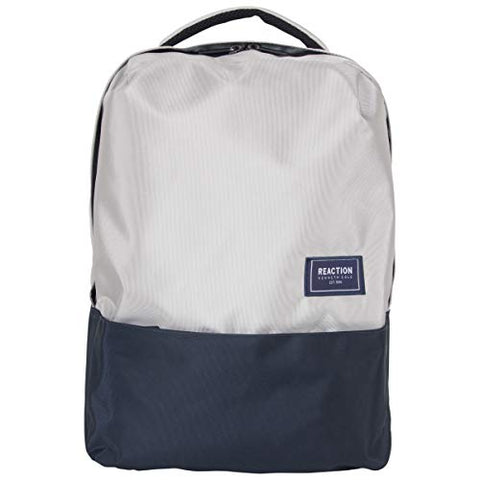 "Kenneth Cole Reaction Two-Tone Polyester 15.6"" (RFID) Laptop Backpack Light Grey/Navy One Size"