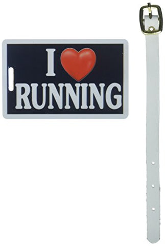 Tag Crazy I Heart Running Four Pack, Black/White/Red, One Size