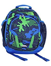 The North Face Sprout Toddler/Little Kid Cosmic Blue Griddy Woodland Camo Print/Turkish Sea Backpack Bags