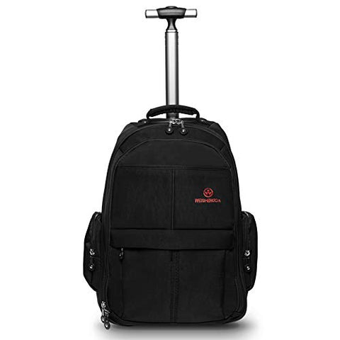 Weishengda 19 Inches Waterproof Wheeled Rolling Backpack For Men And Women Business Laptop Travel