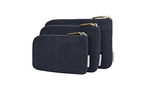 Travelon Heritage Set of 3 Pouches, Indigo