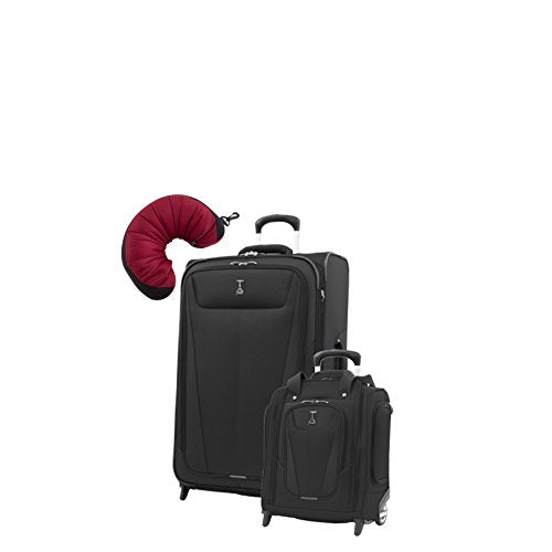 "Travelpro Maxlite 5 | 3-Pc Set | Underseater & 26"" Exp. Rollaboard With Travel Pillow (Black)"