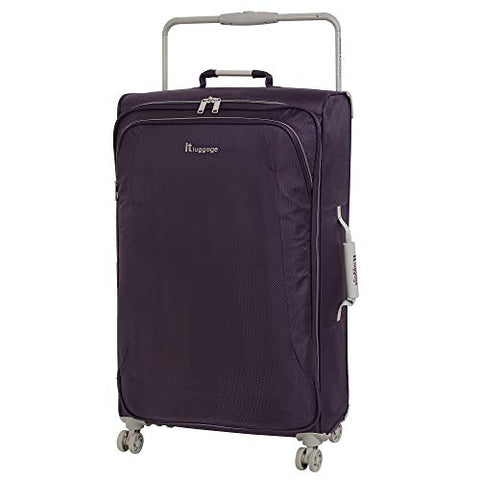 "IT Luggage 31.5"" World's Lightest 8 Wheel Spinner, Purple Pennant With Cobblestone Trim"