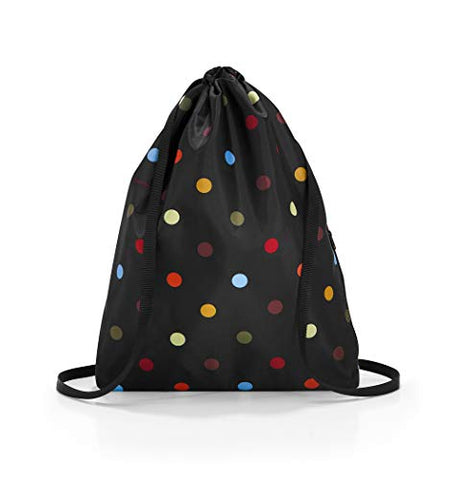 reisenthel Mini Maxi Sacpack, Lightweight Foldable Drawstring Backpack with Matching Storage Pouch, Water-repellent, Dots