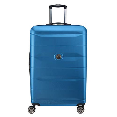 "Delsey Luggage Comete 2.0 28"" Expandable Spinner, Steel Blue"