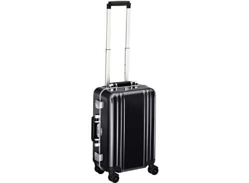 Zero Halliburton Classic Polycarbonate Carry On 4 Wheel Spinner Travel Case, Black, One Size
