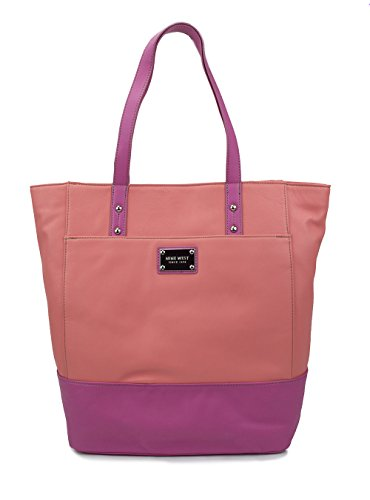 Essex Tote, Chic PVC, Color Papaya/Pink