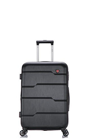 Dukap Luggage Rodez Lightweight Hardside Spinner 24'' Inches Black