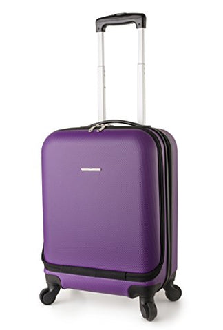 Travelcross Boston Carry On Lightweight Hardshell Spinner Luggage - Purple