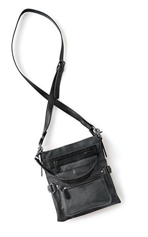 Shiraleah Harper Double Handle Cross-Body Daypack, Graphite