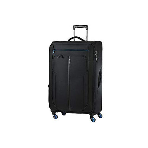 Samsonite Patrono Spinner Carry-On Luggage Large Black and Blue Travel Bag