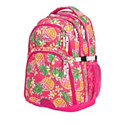 "High Sierra(R) Swerve Backpack With 17"" Laptop Pocket, Flamingo/Pink Pineapple"