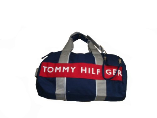 Tommy Hilfiger Duffle Bag/Carry-On, Small, Navy/White/Red/Gray