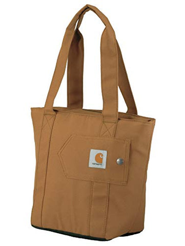 Carhartt Women's Insulated Lunch Cooler Tote Bag, Carhartt Brown