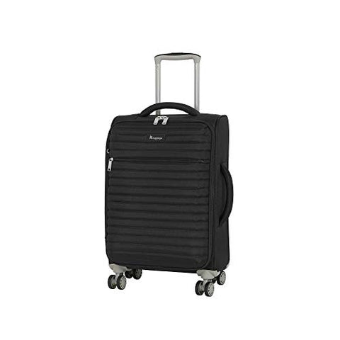 "It Luggage 21.5"" Quilte Lightweight Expandable Spinner, Black"