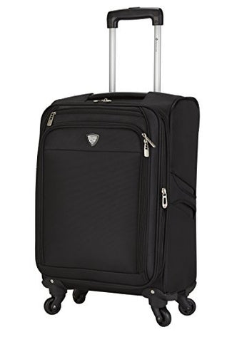 "Travelers Club 18"" Carry-On Spinner Luggage Constructed With Top Durable Fabric, Black Color Option"