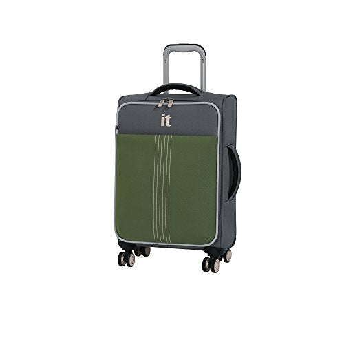 "it luggage 21.5"" Filament 8 Wheel Lightweight Expandable Carry-on, Steel Gray/Loden Green"