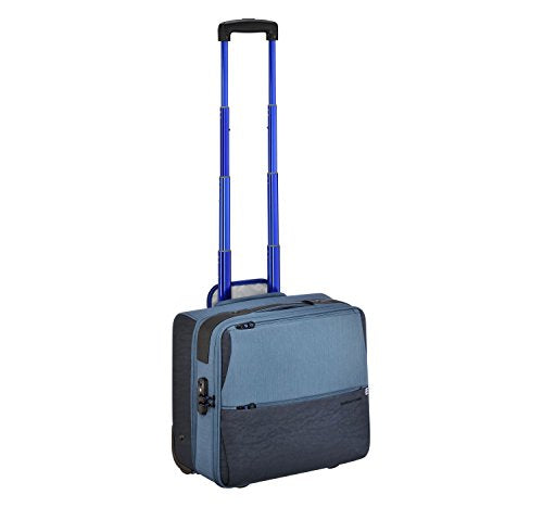 Zero Halliburton New York Greenwich 2-Wheeled Business Case, Rolling Nylon Briefcase in Blue