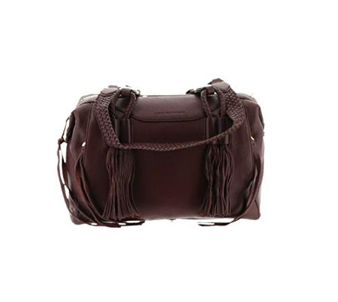 Aimee Kestenberg Genuine Leather Satchel -Cori Mahogany New A294943