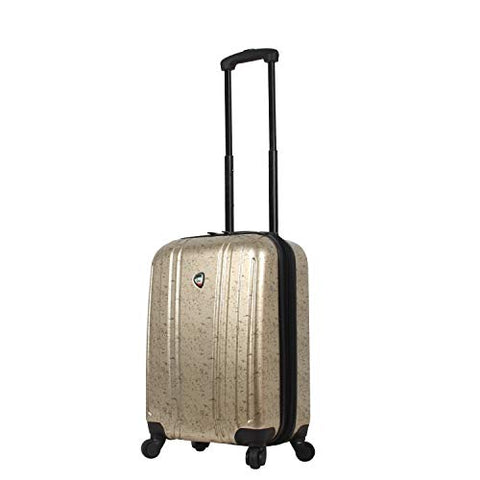 Mia Toro Italy Gita Hardside Spinner Carry-on, Gold