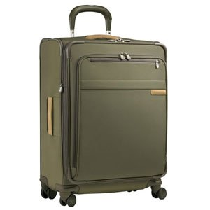 "Briggs & Riley 20"" Carry-On Wide Body Upright Spinner - Olive - Free 3 Day Shipping Upgrade"