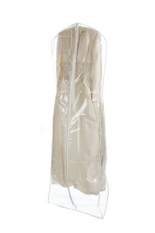 Bags for Less Clear Heavyduty 4.5 Mil Wedding Dress Garment Bag