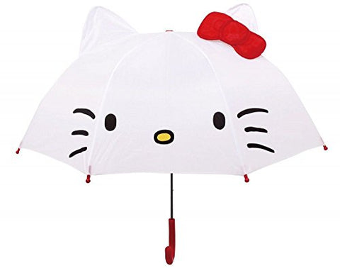 Hello Kitty Ear With Jump Umbrella White