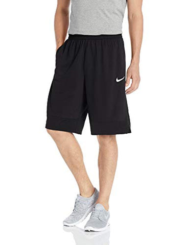 Nike Dri-FIT Icon, Men's Basketball Shorts, Athletic Shorts with Side Pockets, Black/Black/White, XL