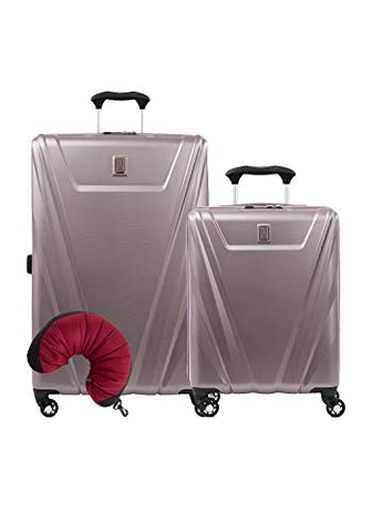 Travelpro Maxlite 5 Hardside 3-PC Set: Int'l C/O and Exp. 29-Inch Spinner with Travel Pillow (Dusty Rose)
