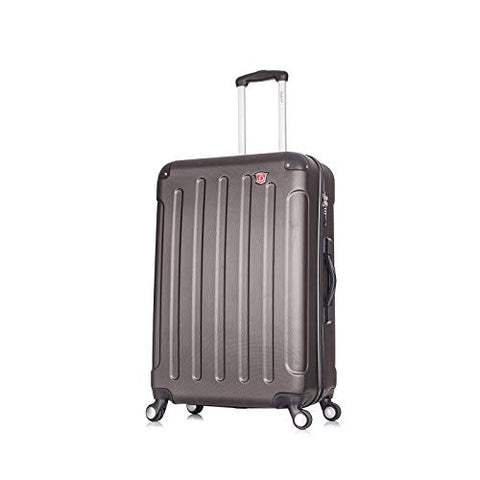 DUKAP Luggage Intely Hardside Spinner 28'' inches with Integrated Weight Scale - Grey