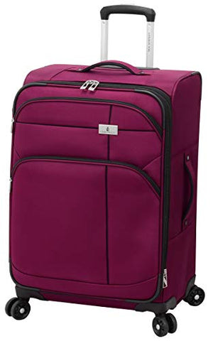 "London Fog Cranford 25"" Expandable Spinner, Cranberry"