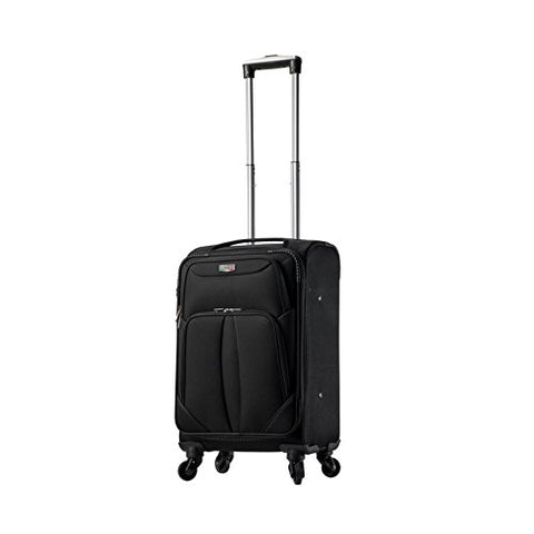 "Viaggi V1100-20In-Blk Italy Sione Softside Spinner 20"" Carry-On, Black"