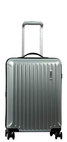 Bric's Riccione International 21-Inch Carry-On Spinner (Brushed Silver)
