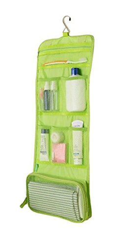 Damara Folding Toiletry Hanging Wash Bag With Hook Make Up Bags Organiser,Green