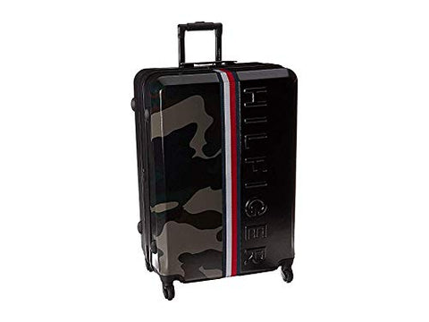 "Tommy Hilfiger Unisex Vintage Sport 25"" Upright Suitcase Black/Camo One Size"