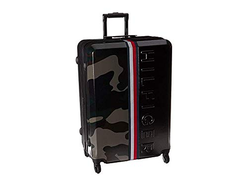 "Tommy Hilfiger Unisex Vintage Sport 28"" Upright Suitcase Black/Camo One Size"