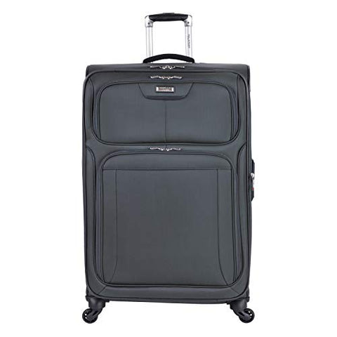 "Ricardo Beverly Hills Luggage Saratoga 25"" Spinner Upright Suitcase, Graphite"