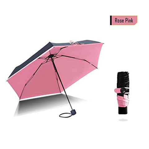1PC Mini Umbrella Small Pink Pockets Umbrellas Rain Women Folding Anti-UV Umbrella Kids Sunny and