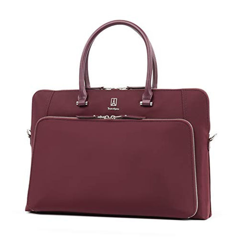 Travelpro Luggage Platinum Elite Women'S Briefcase, Bordeaux, One Size