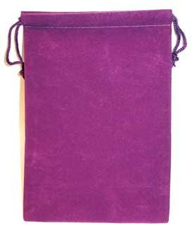 Bag Velveteen 5 x 7 Purple *