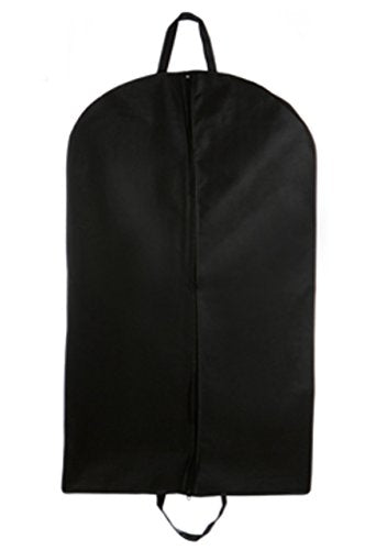 "Tuva Breathable Suit Dress Coat Uniform Garment Bag 60"" with Handles, Black"